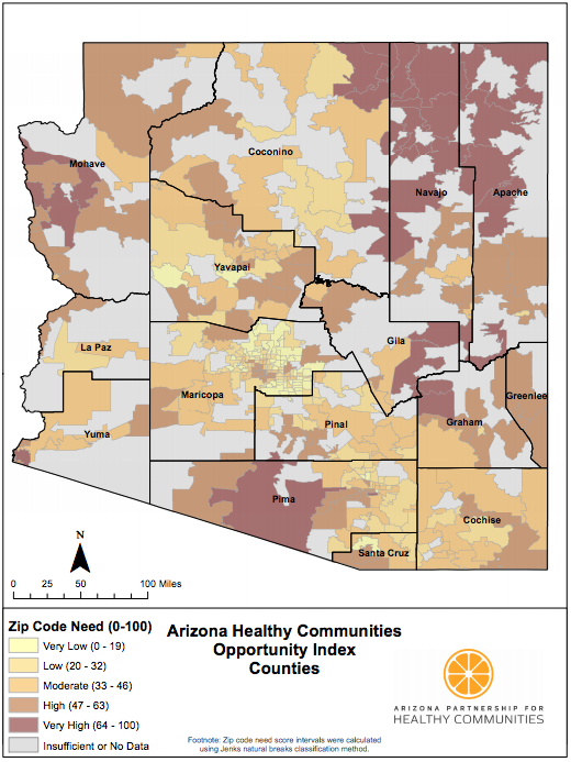 Health Mapping Every ZIP Code in Arizona - Arizona ...