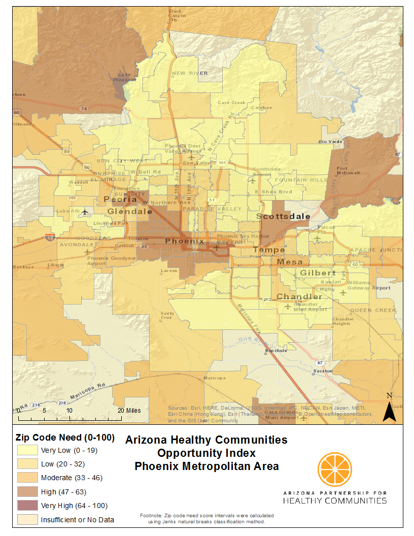 Map Of Tucson Arizona Zip Codes.Health Mapping Every Zip Code In Arizona Arizona Partnership For