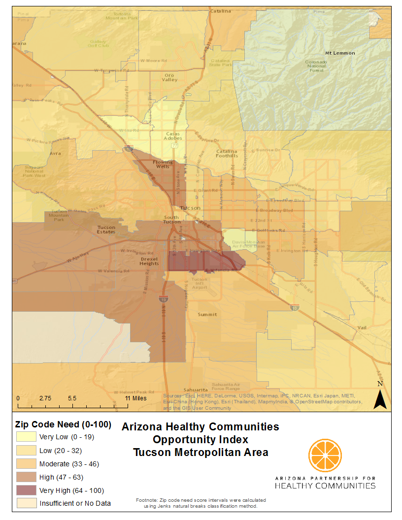 Health Mapping Every Zip Code In Arizona Arizona Partnership For